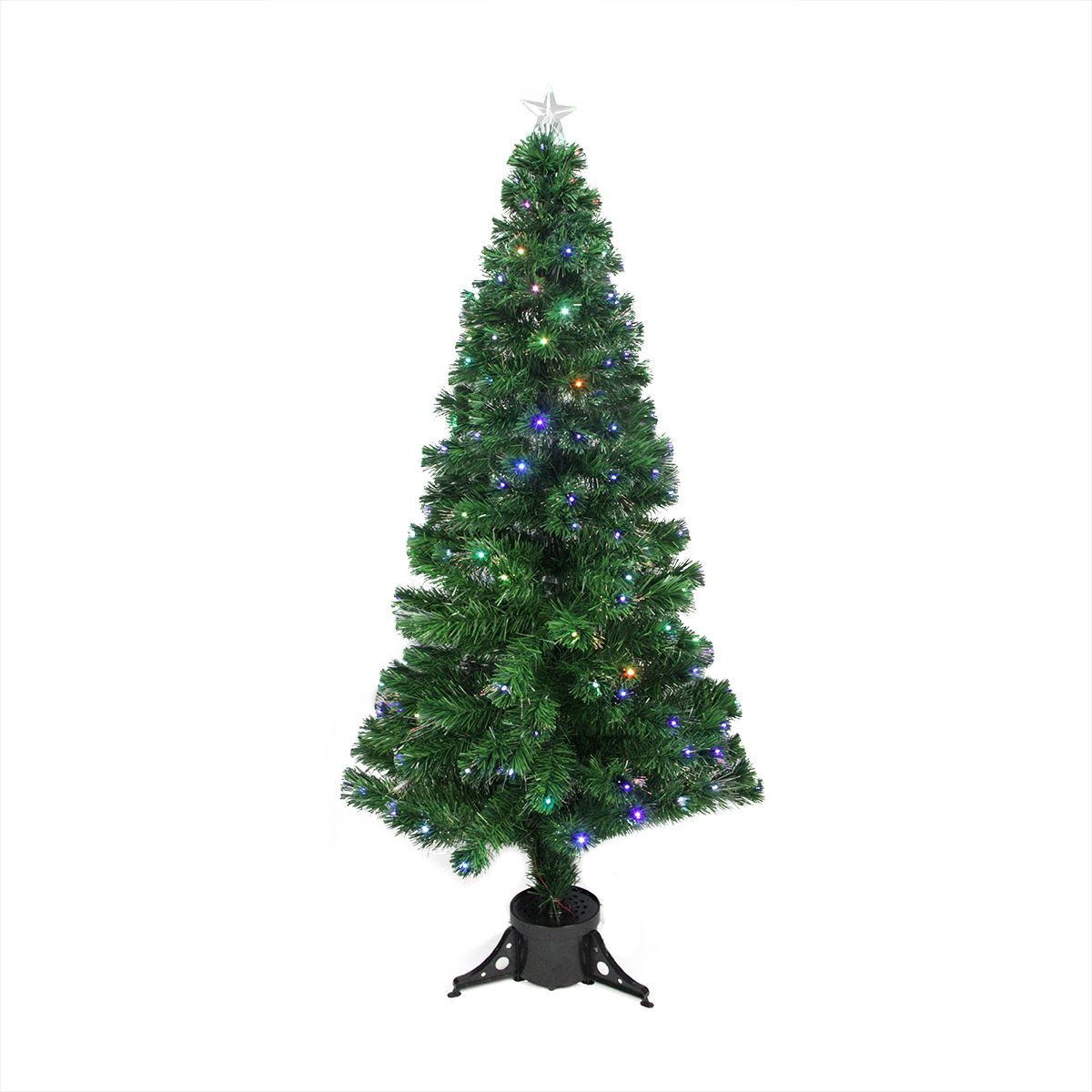 6 Pre Lit Medium Potted Fiber Optic Artificial Christmas Tree With Star Tree Topper Multicolor Led Lights 31466431 Fiber Optic Christmas Tree Star Tree Topper Slim Artificial Christmas Trees