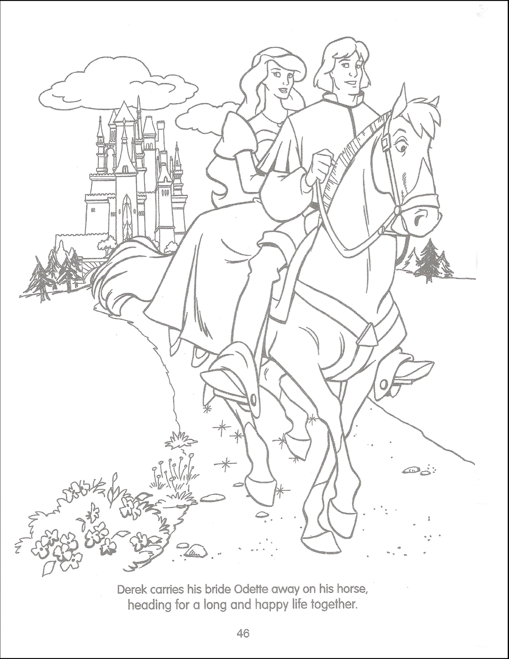 The Swan Princess Funtime Activity Book The Swan Princess Wiki Fandom Swan Princess Disney Coloring Pages Princess Coloring Pages