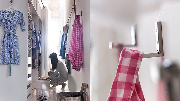 DIY walk-in closet using a Pax wardrobe