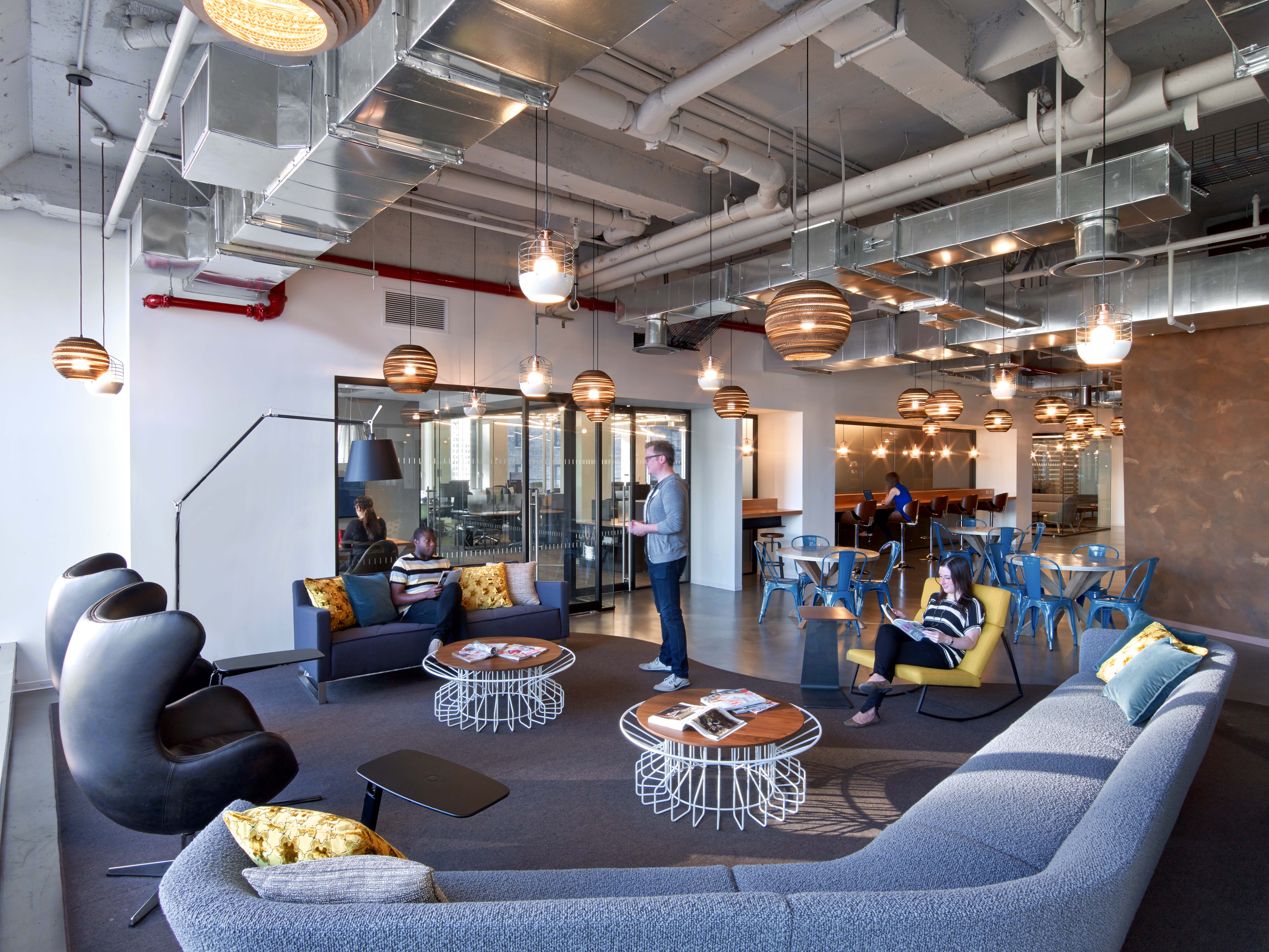 Here Tpg Designed A Multi Seating Collaboration Area