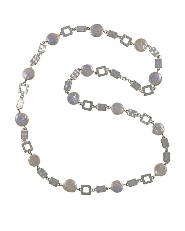 Real Weddings Polignano: Polignano A Mare - Coin Pearl Necklace