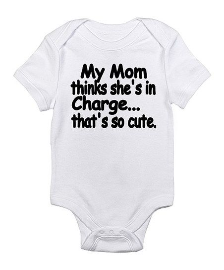 My Mum Thinks She/'s In Charge That/'s So Cute Funny Boys Baby Grow Bodysuit
