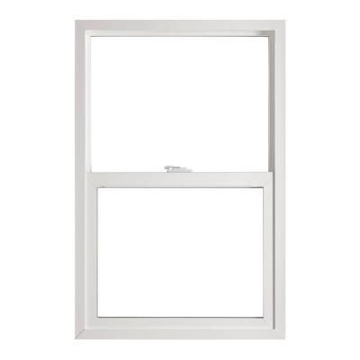 Jeld Wen Single Hung Vinyl Windows 36 In X 48 In White With Lowe3 Glass And Screen Sierra Sh Single Hung Windows Single Hung Vinyl Windows Fiberglass Mesh