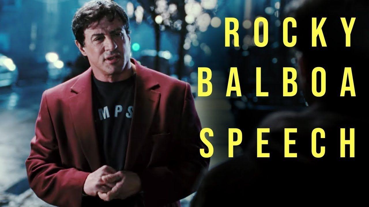 Rocky Balboa Motivational Speech To His Son Motivational