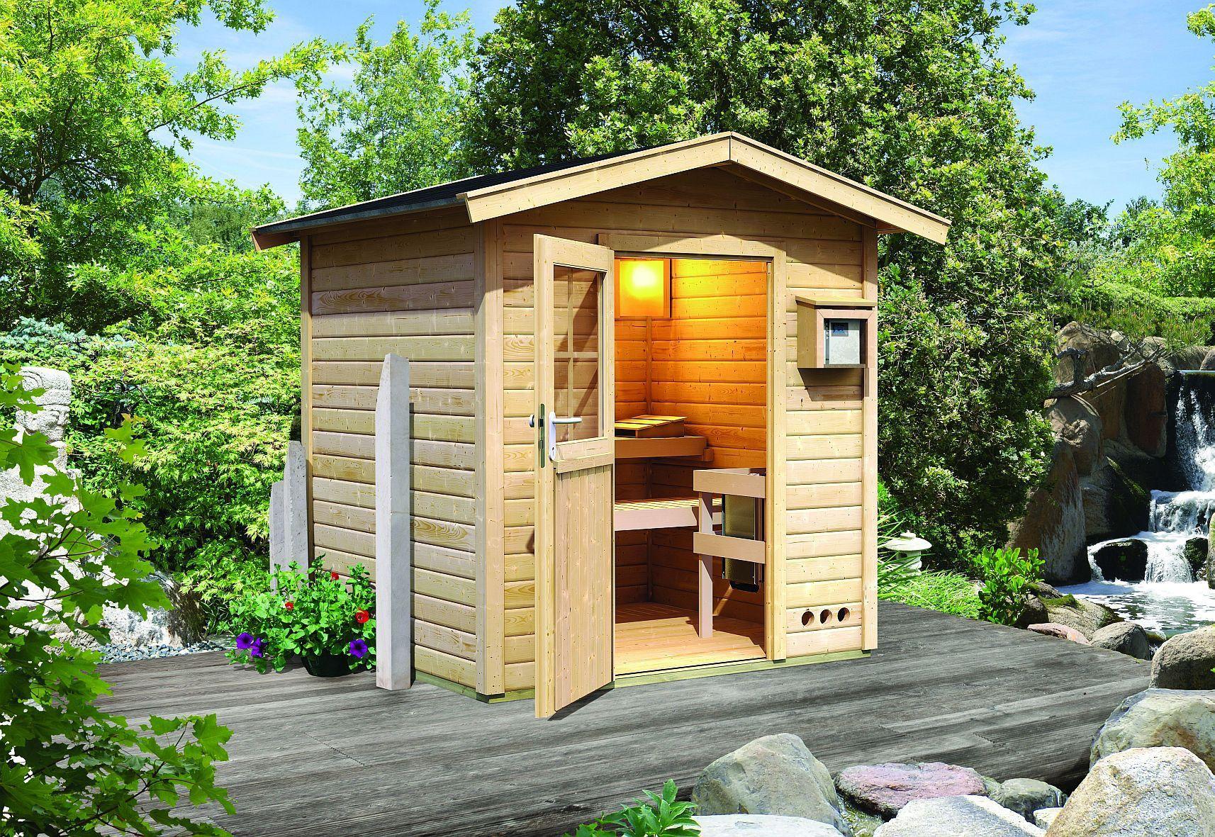 Prix D Un Sauna sauna d'extérieur saunahaus toit en selle 38 mm 7.74 m3