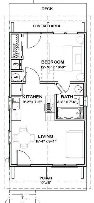 total heated living area 448 sq ft total sq ft under beam 544 sq ft lovely small house plan - 9 Sq Ft Tiny House Floor Plans