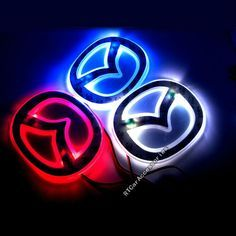 Aliexpress.com : Buy Free Shipping Mazda 2 3 5 6 Rear Lights Mazda Logo LED Light Sticker, Badge Light Blue/ Red/ White, Mazda LED Emblem from Reliable led car emblem suppliers on RTCarAccessories Online Store $7.99