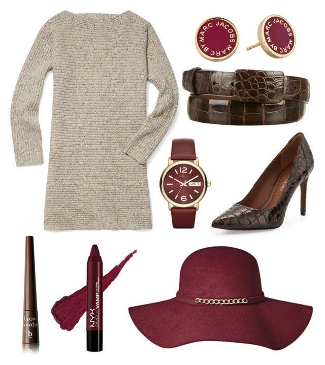 """""""It's Hat Season."""" by marykatetus on Polyvore featuring Rebecca Minkoff, Oscar de la Renta, Marc by Marc Jacobs, Donald J Pliner and BBrowBar"""