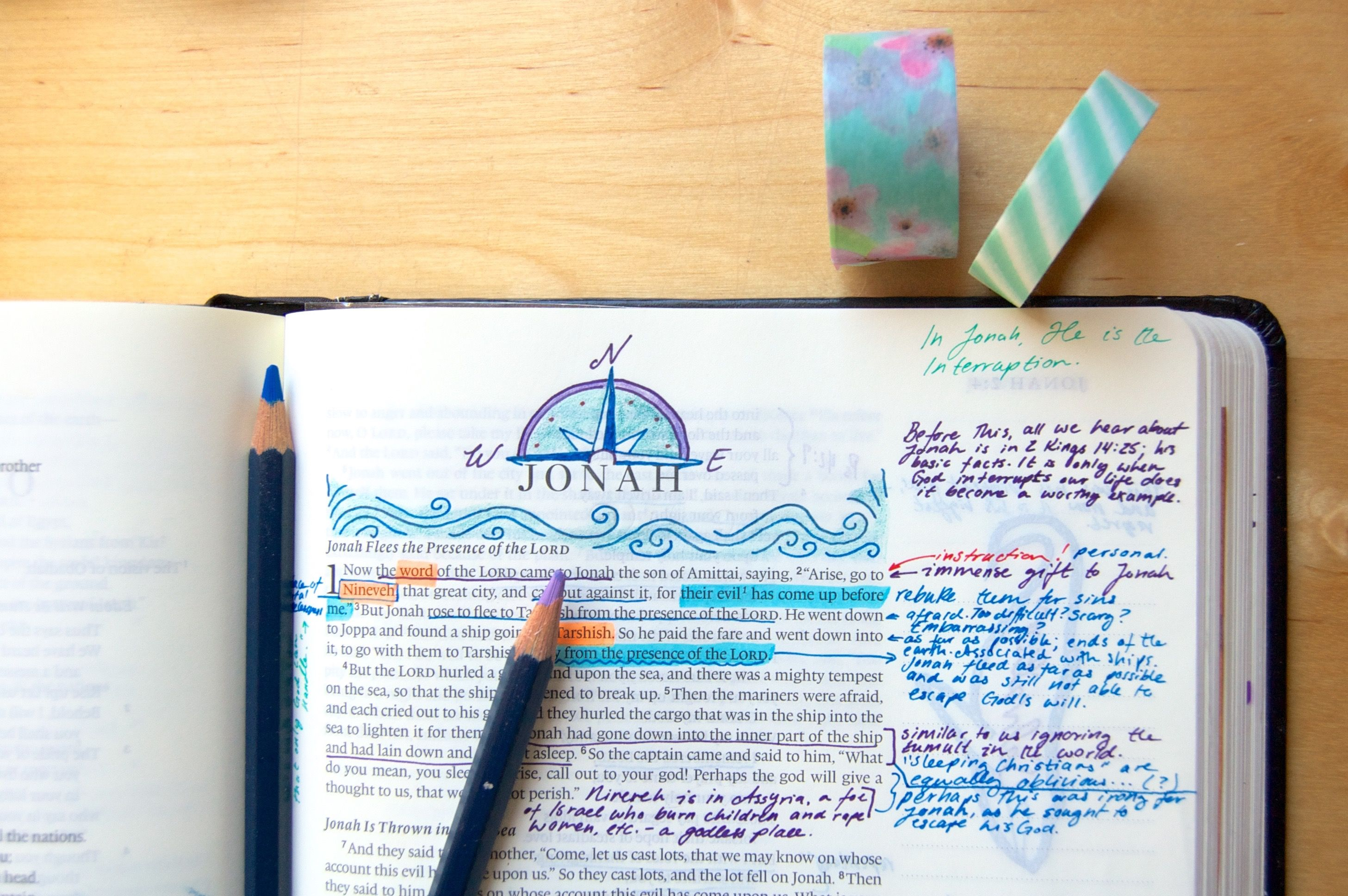 Bible Journaling Headers: How I Make Book Headers in My ...