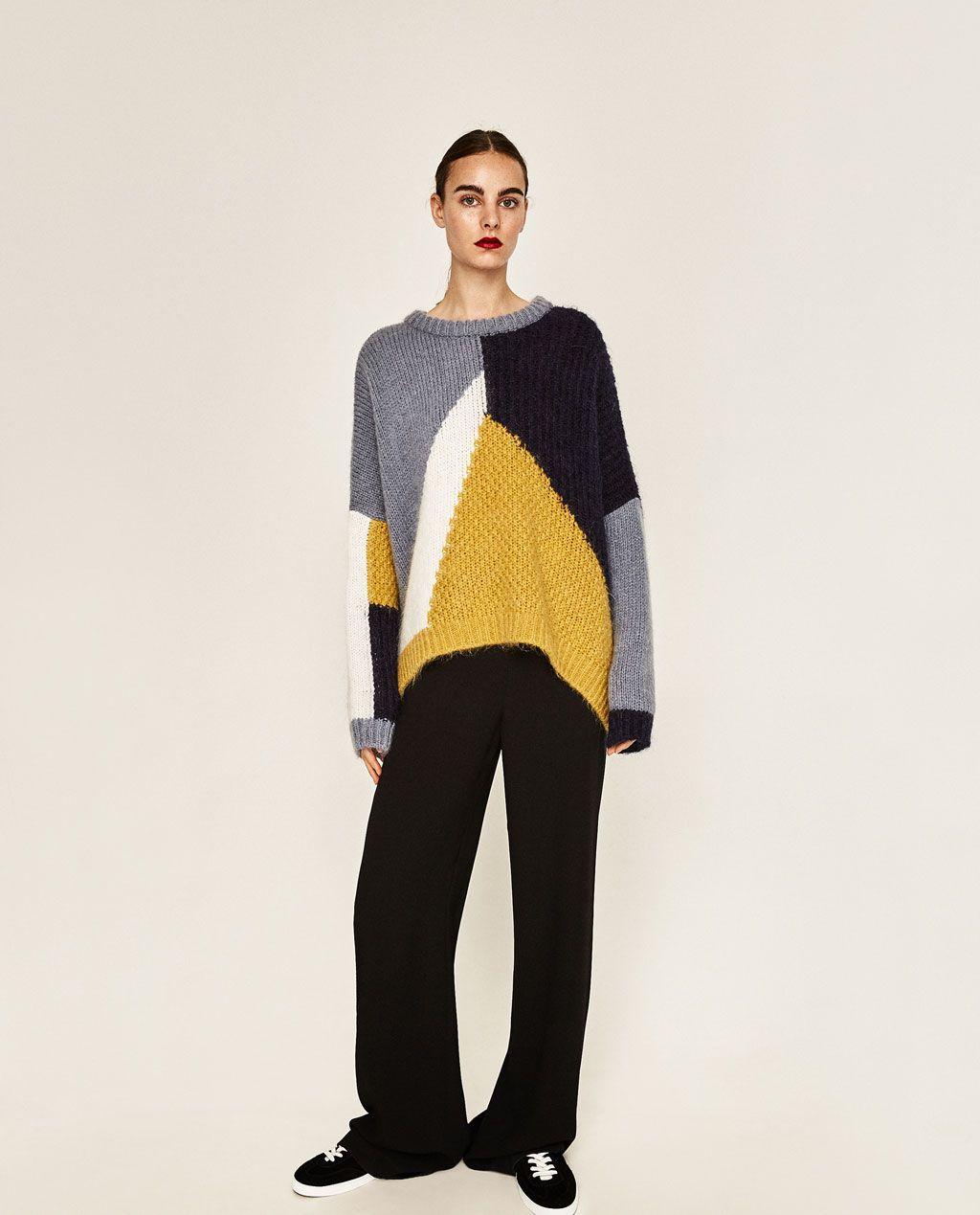 COLOR BLOCK SWEATER-Sweaters-KNITWEAR-WOMAN-SALE | ZARA United ...
