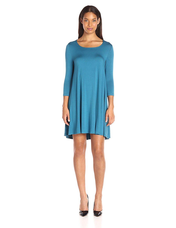 02115b7e22d Karen Kane Women s Baltic Blue Maggie Trapeze Dress    Remarkable product  available now.   Dresses Sale