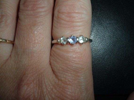 Petite Tanzanite and White Topaz Band Ring by missy69 on Etsy, $29.99