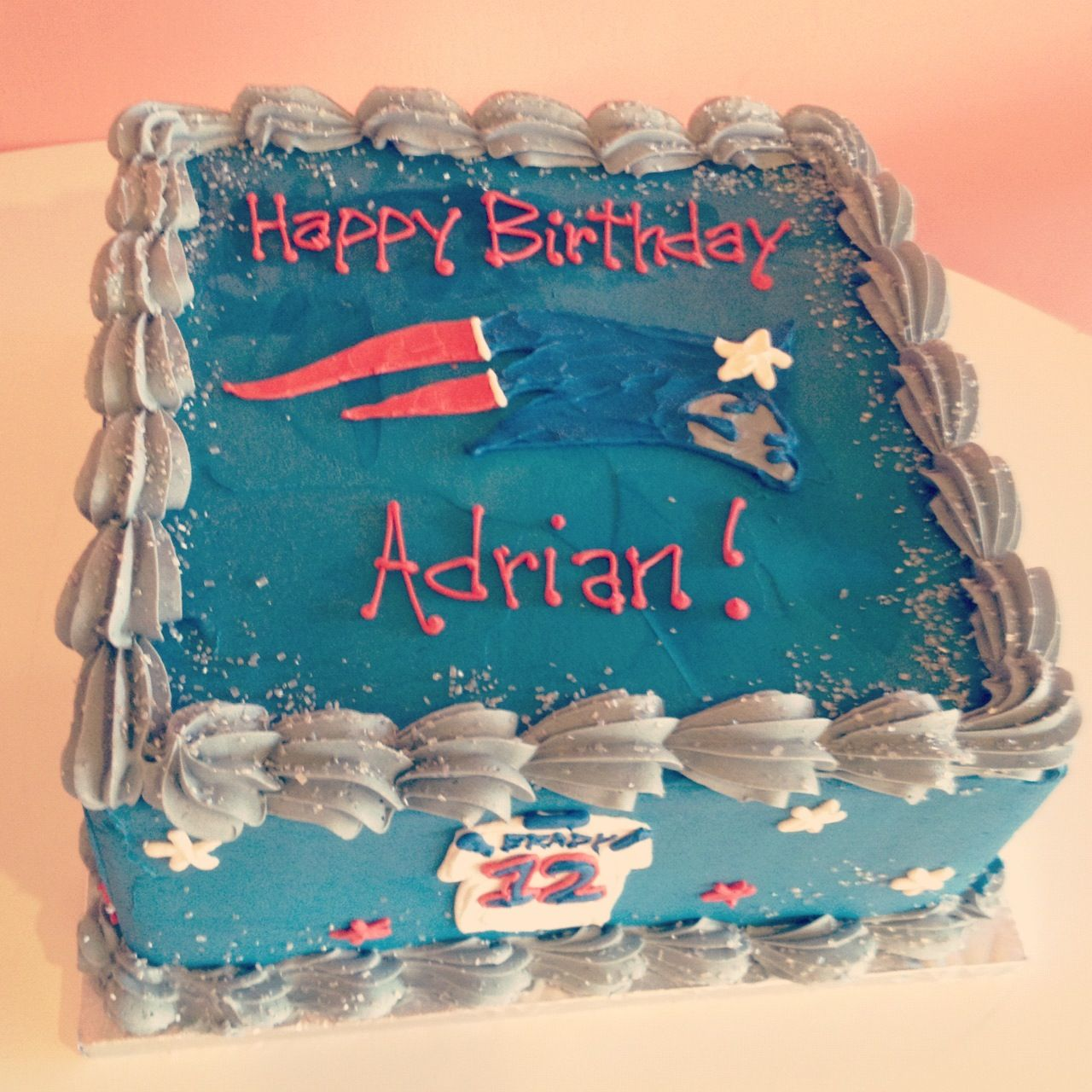 New England Patriots Birthday Cake By 2tarts Bakery New
