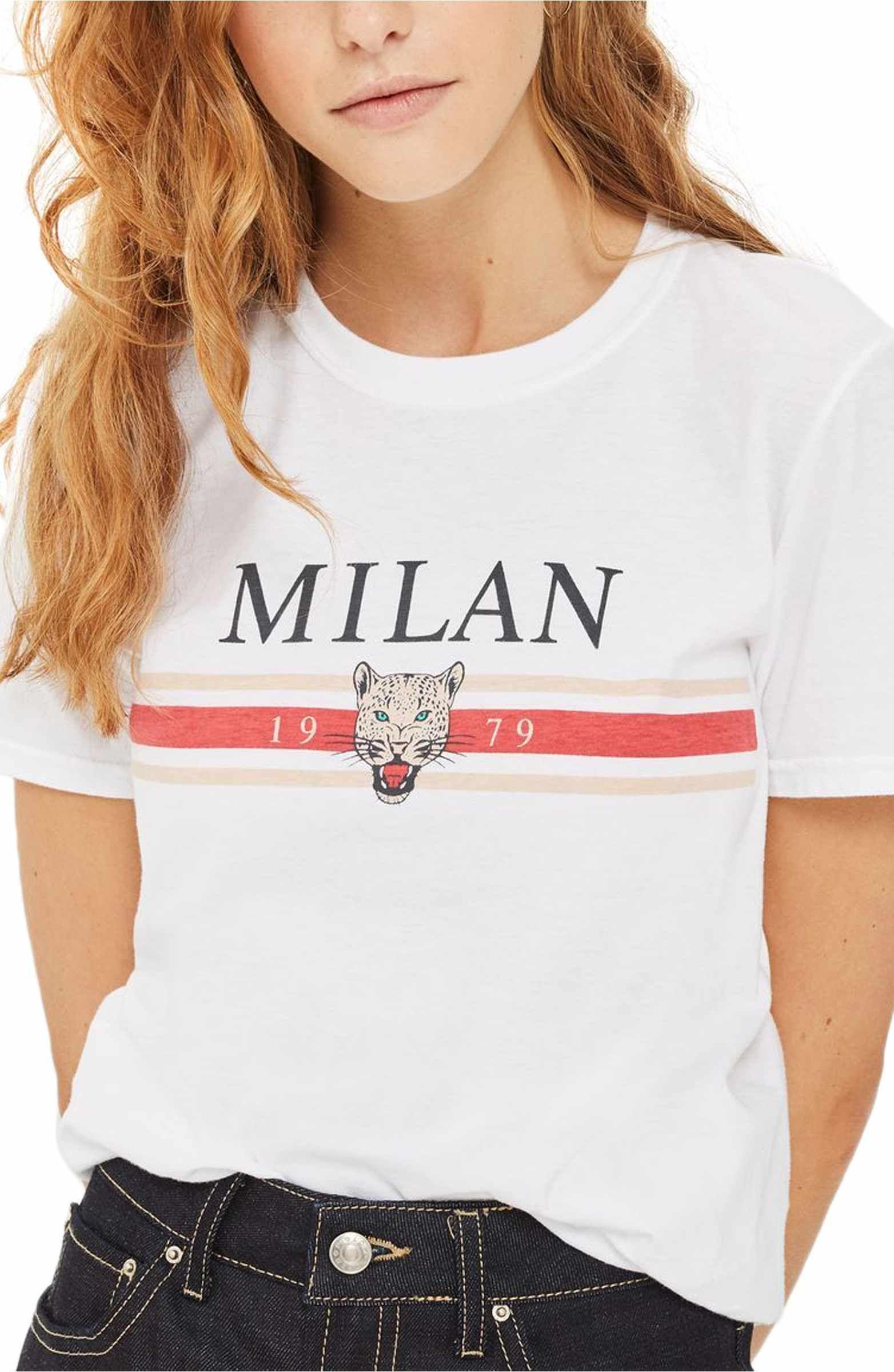 1acb140d0 Main Image - Topshop Milan Graphic Tee (Petite) | Mooshko Fashion ...
