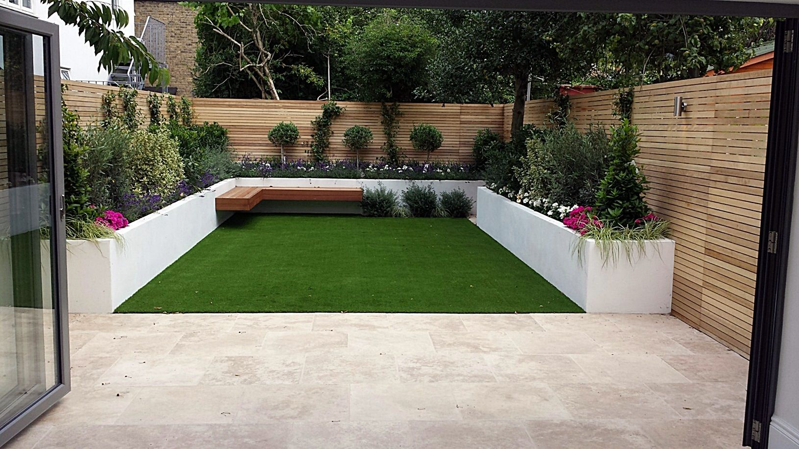 Artifical Grass Easi Lawn Fake Turf Raised Beds Painted
