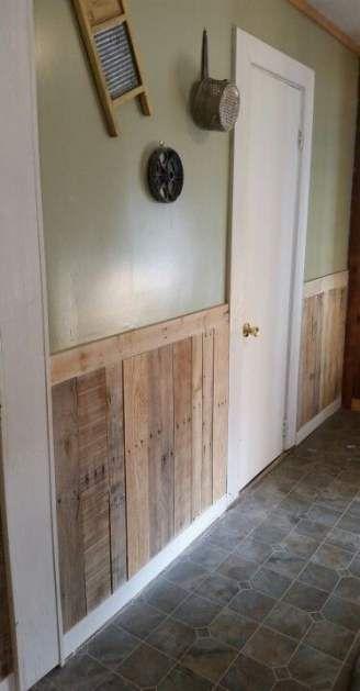 Half Wall Wood Paneling: 64 Ideas For Half Wood Paneling Walls Vanities #wood