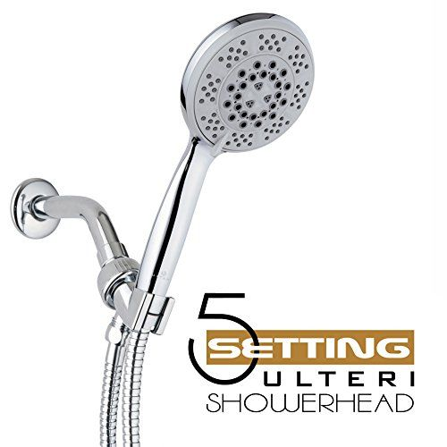 Hand Held Shower Head Ulteri Luxury Large 5 Rainfall Chrome