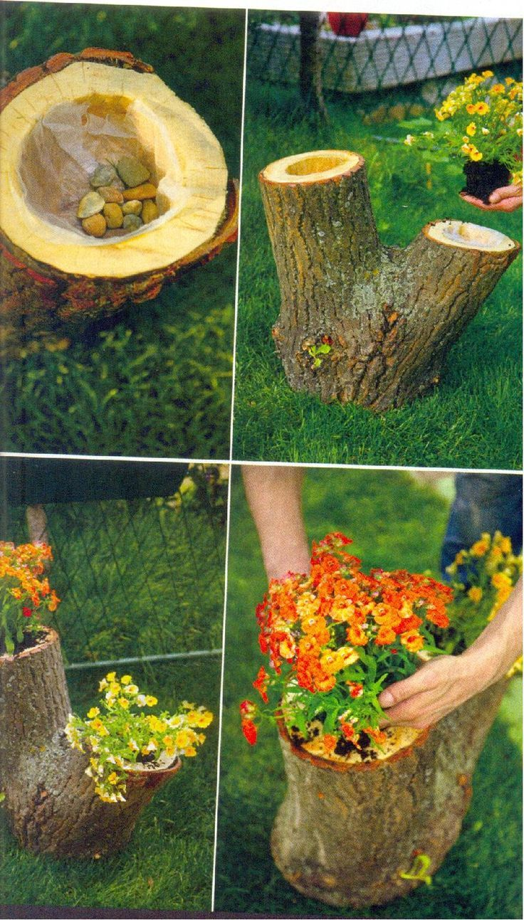 Here's a nice idea: how to make a flowerpot stand. It will be in #gartengestaltungideen