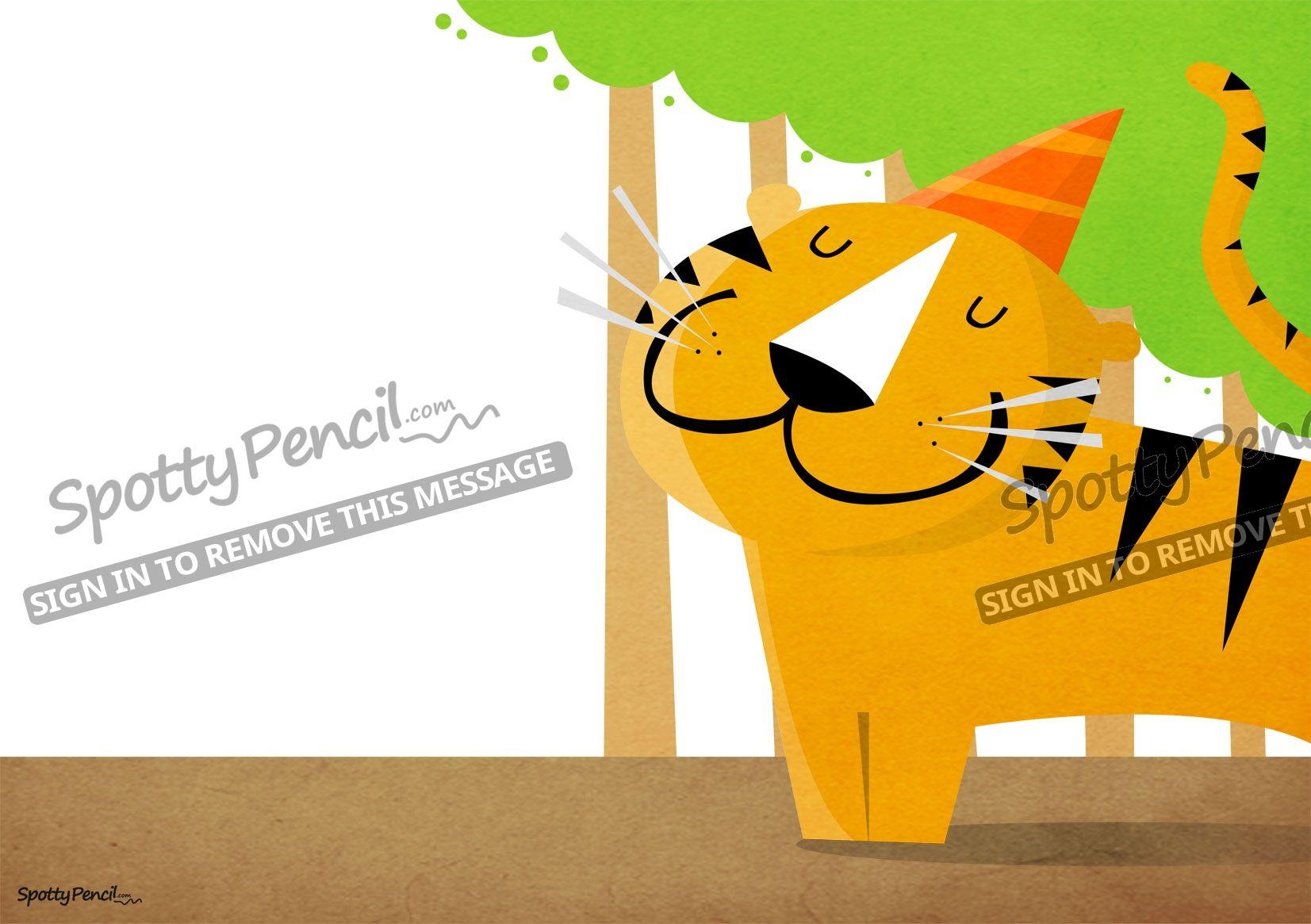 The Tiger free printable party invitation - SpottyPencil.com | Kid ...