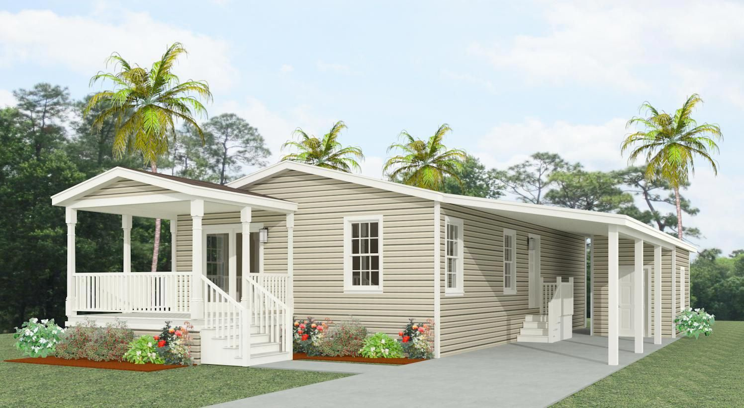 If You Re Doing Your Own Task Slash Your Materials Delivery Charges By Picking Up Products Manufactured Home Porch Manufactured Homes Floor Plans Porch Design