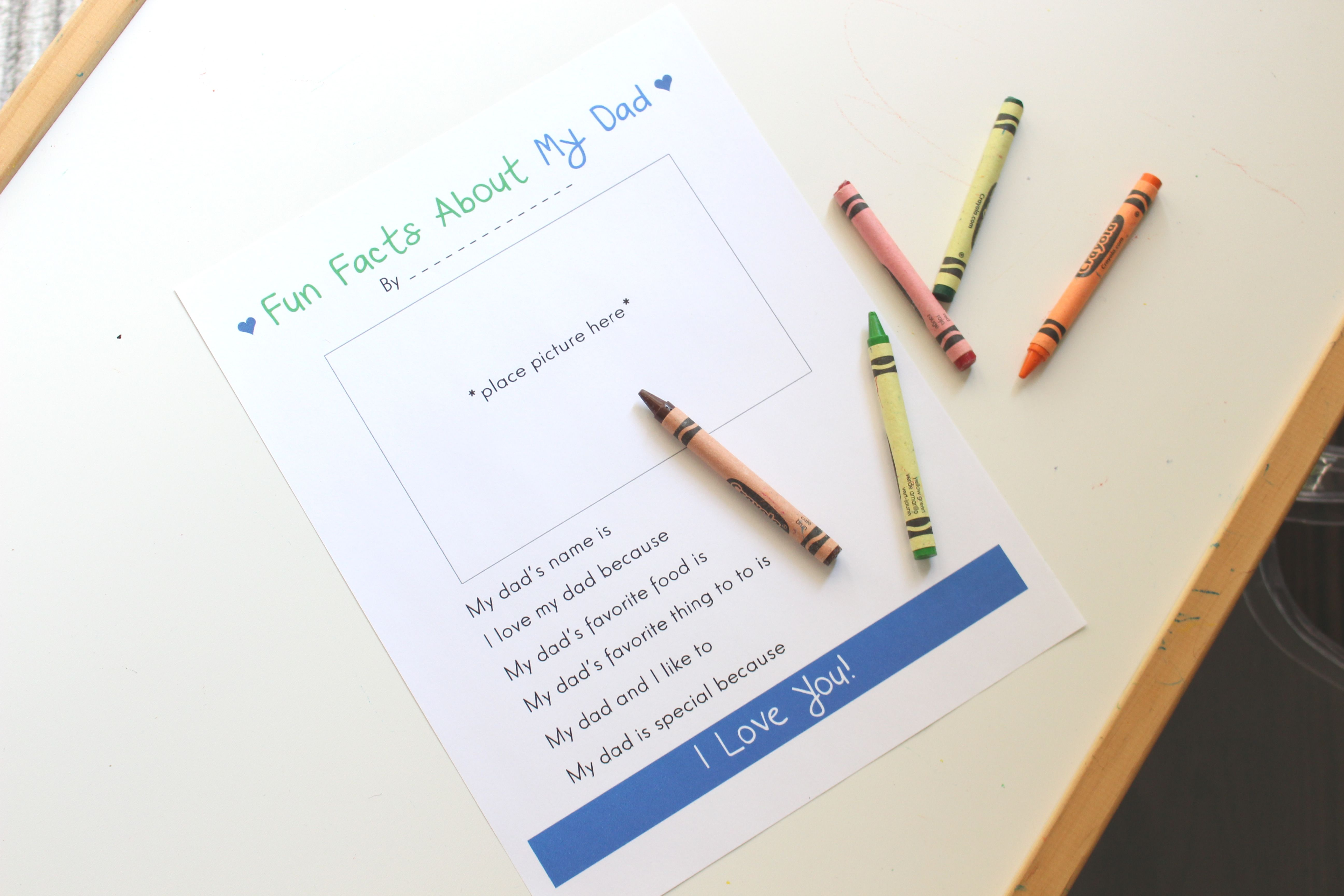 Free Printable Father S Day Fill In The Blank Worksheets