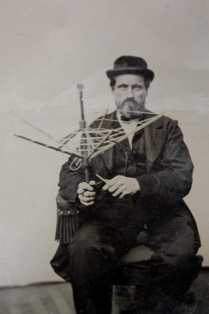 Antique 1870 Occupational Tintype Photograph Inventor