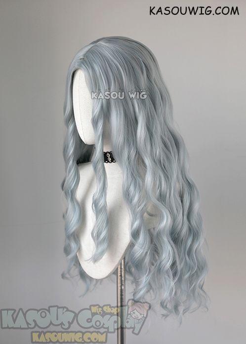 Kasou Wig My Hero Academia MHA Eri long grayish blue ...