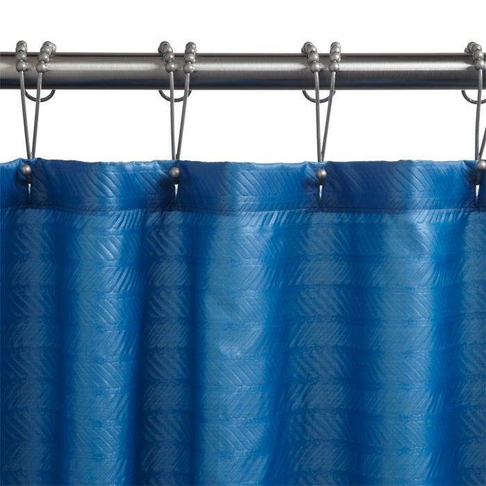 Polyester Chevron Shower Curtain Dark Teal Dark Curtains Teal