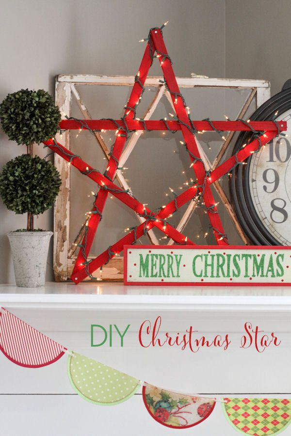 DIY Lighted Christmas Star Christmas Crafts Pinterest Kerst