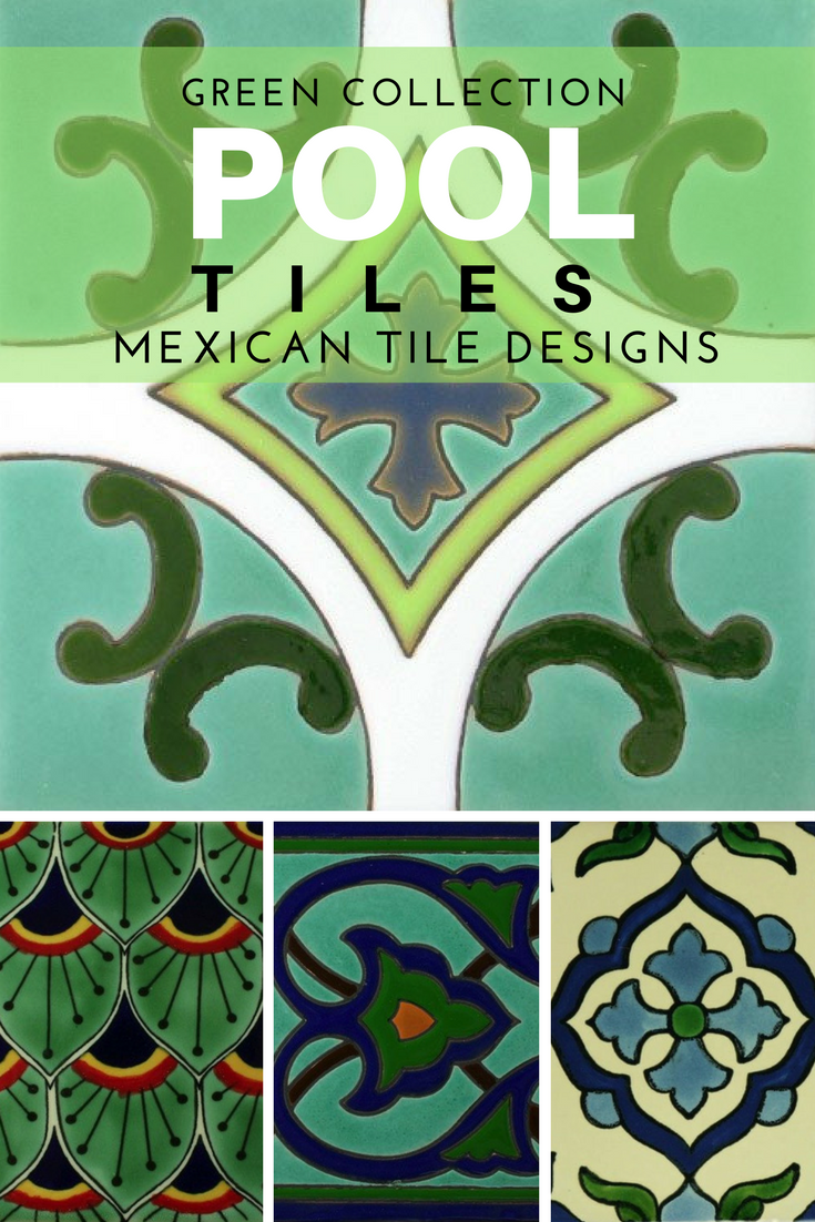 Decorative Pool Tile Best Design A Gorgeous Outdoor Pool With Green Mexican Tile Designs Inspiration