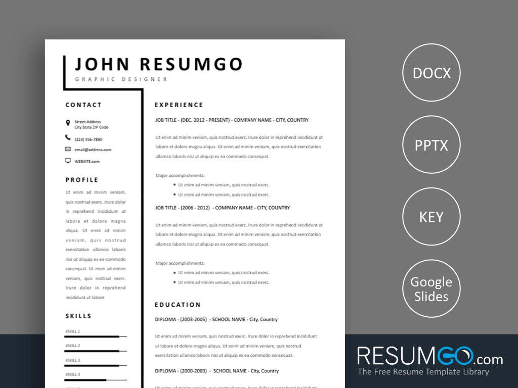 Smeme Simple Two Column Resume Template Resumgo Com Resume Template Resume Modern Resume Template