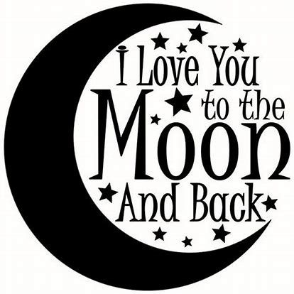 Image result for love you to the moon and back clip art ...
