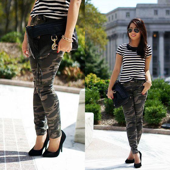 Camouflage Pants & Black Stripes
