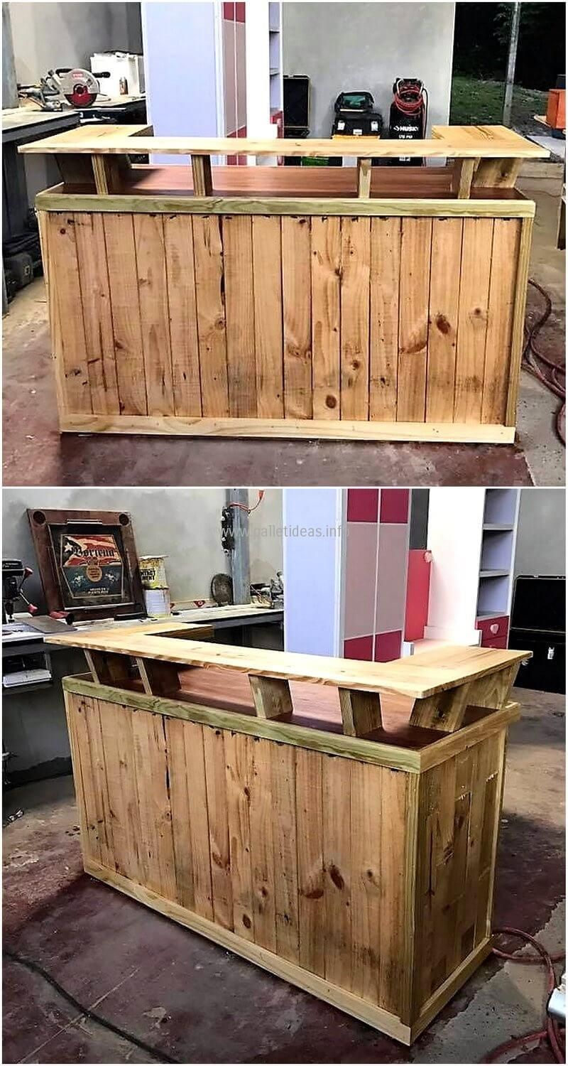 Pallets wooden made bar 1 ideas pinterest muebles de for Terrazas recicladas