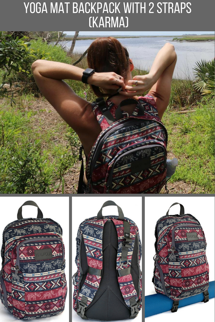 Yoga Mat Backpack is the perfect carrier to take with you to the gym or the  yoga studio. The excellent design gives you versatility by allowing you to  carry ... 923a1a9c26073