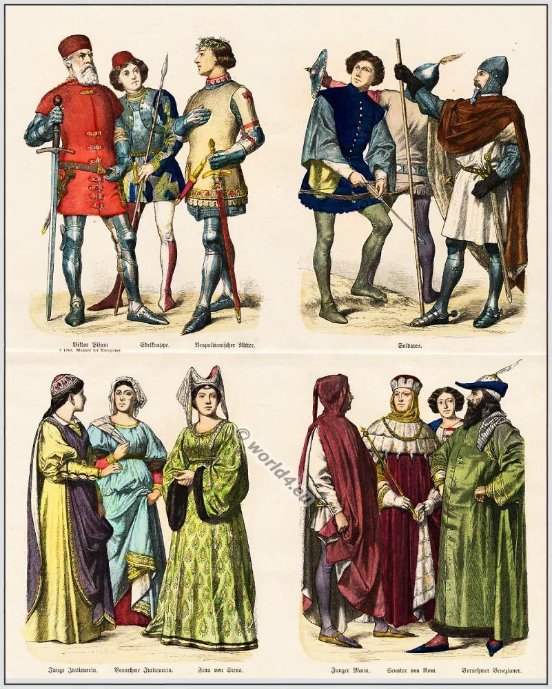 Italian 14th and 15th century fashion history    9th-15th Century