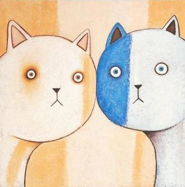 """PAINE PROFFITT /""""CECIL/"""" CAT Hand Signed Limited Edition Giclee Art"""