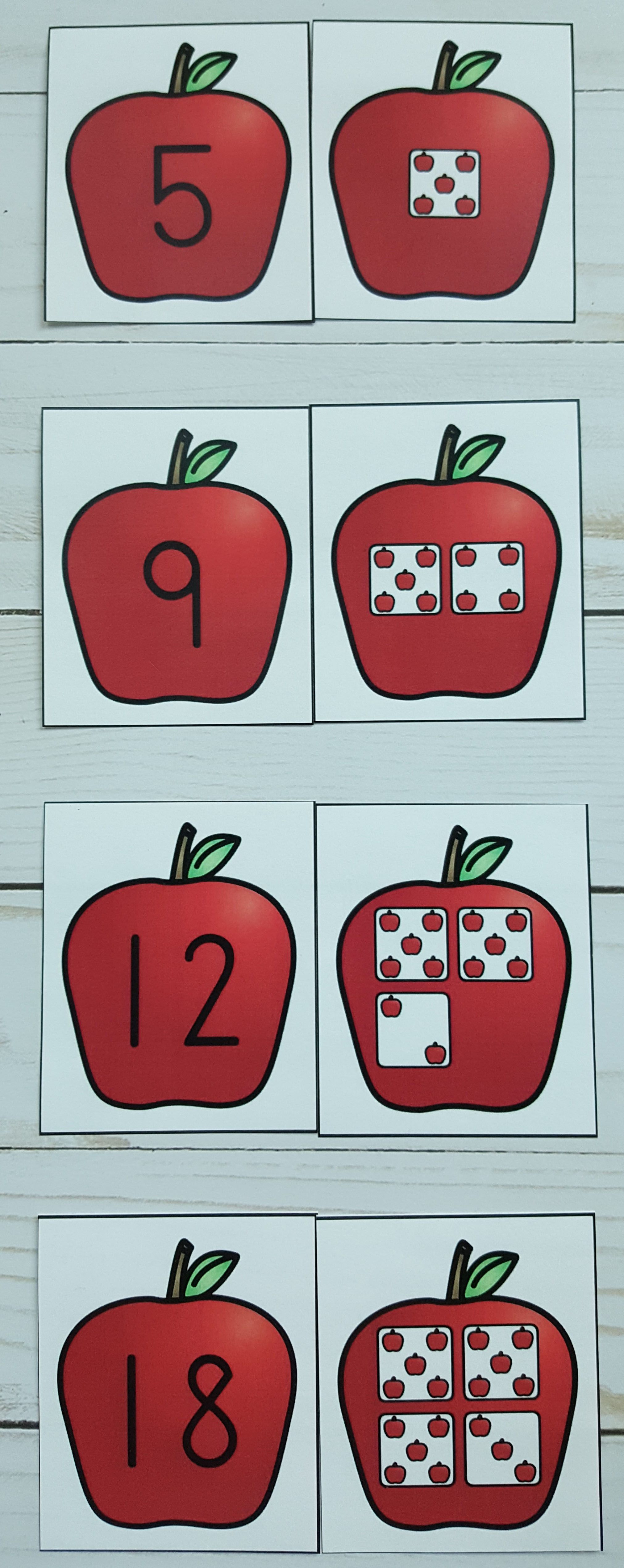 FREEBIE!!! Apple Number Sense Fun for Your Little Learners! Great ...