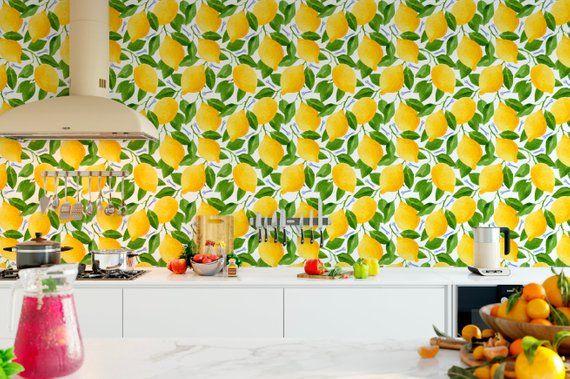 Lemons Wallpaper Kitchen Citrus