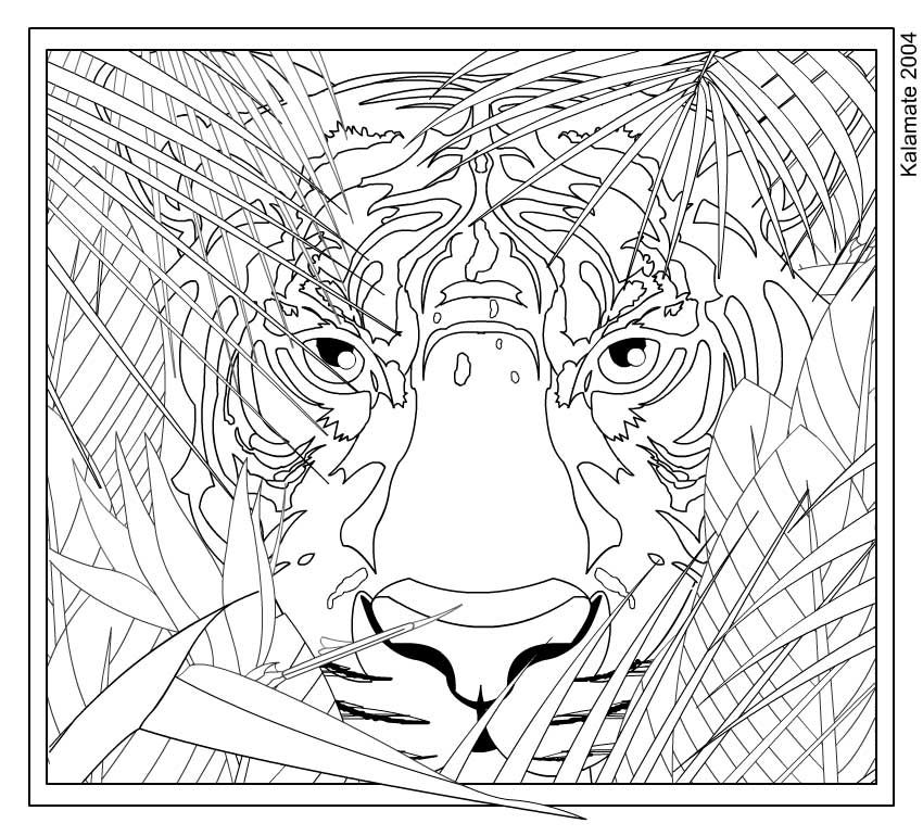 intricate cat coloring pages for adults lurking coloring page by kalamate on deviantart - Intricate Coloring Pages Kids