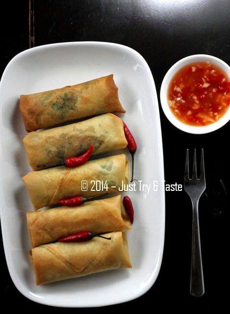Vegetarian Lumpia Dengan Saus Pedas A La Thai Makanan Vegetarian Resep Vegan Resep Masakan Indonesia