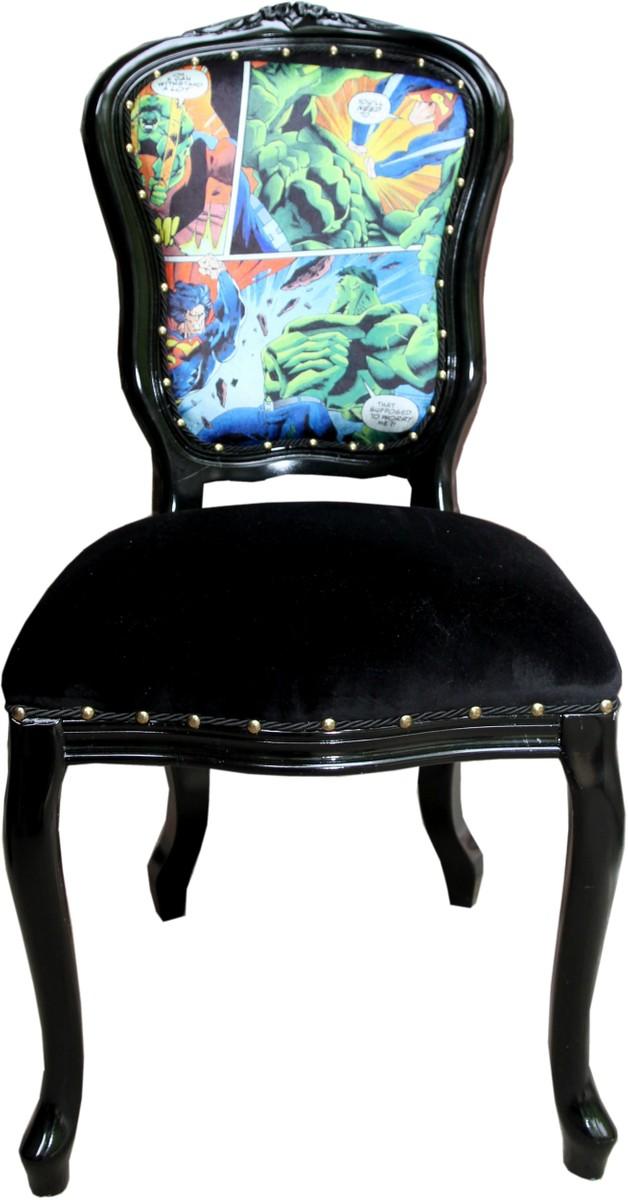 Casa Padrino Barock Luxus Esszimmer Stuhl Comic Schwarz Designer Stuhl Design Mobel Stuhl Design Esstisch Design Schwarze Zimmer