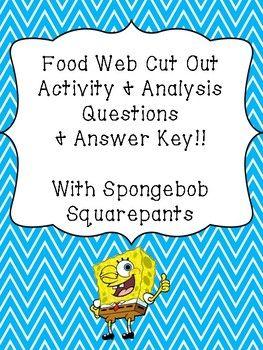 Spongebob Squarepants Food Web Marine Ecosystem Activity Food Web Activities Ecosystem Activities Food Web