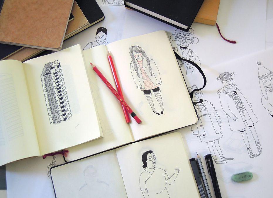 Tilly aka Running For Crayons: Illustrator   Workspiration