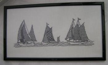 zwart borduren boten