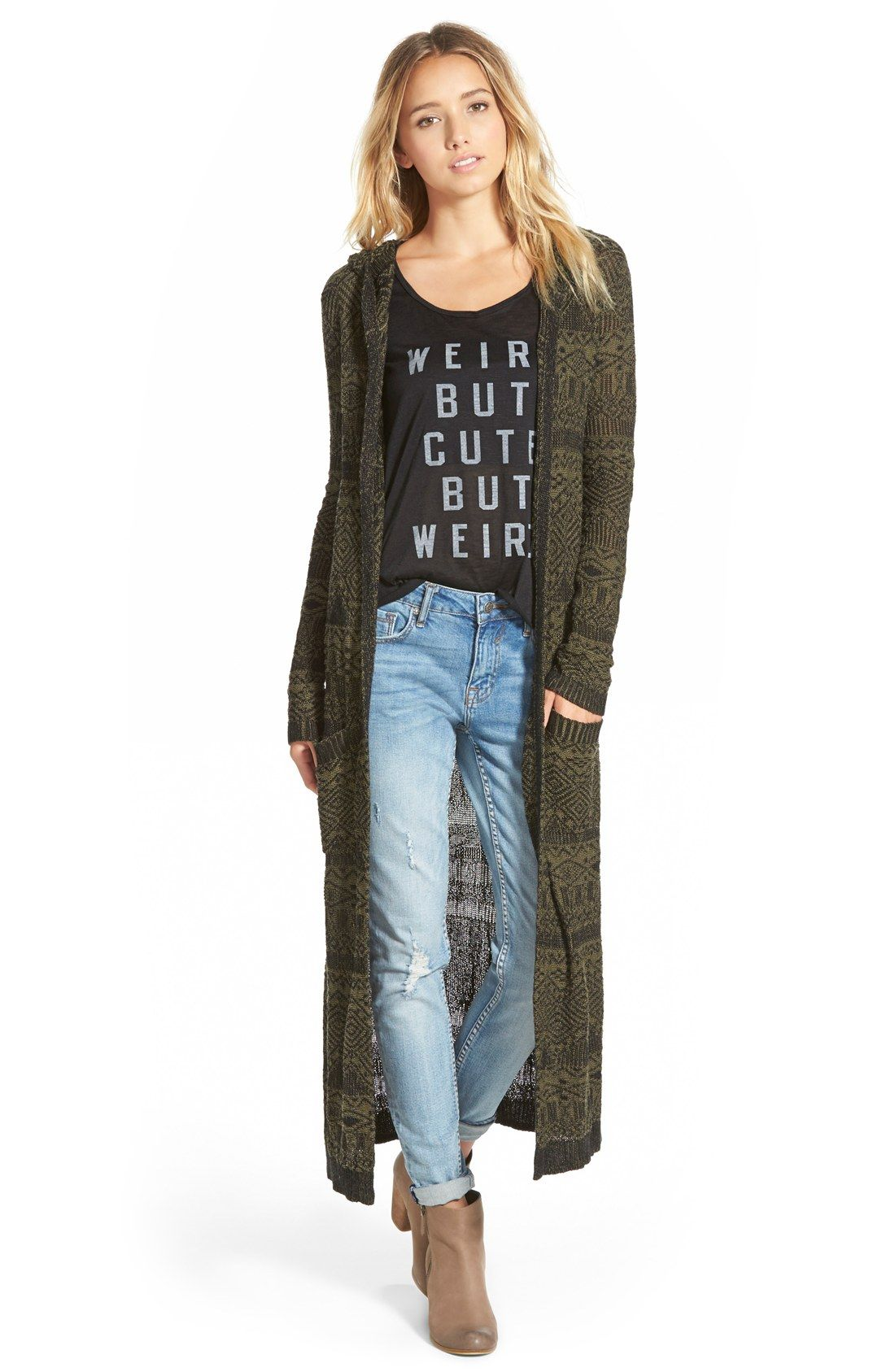 Sun & Shadow Hooded Long Cardigan | Sweater Weather | Pinterest ...