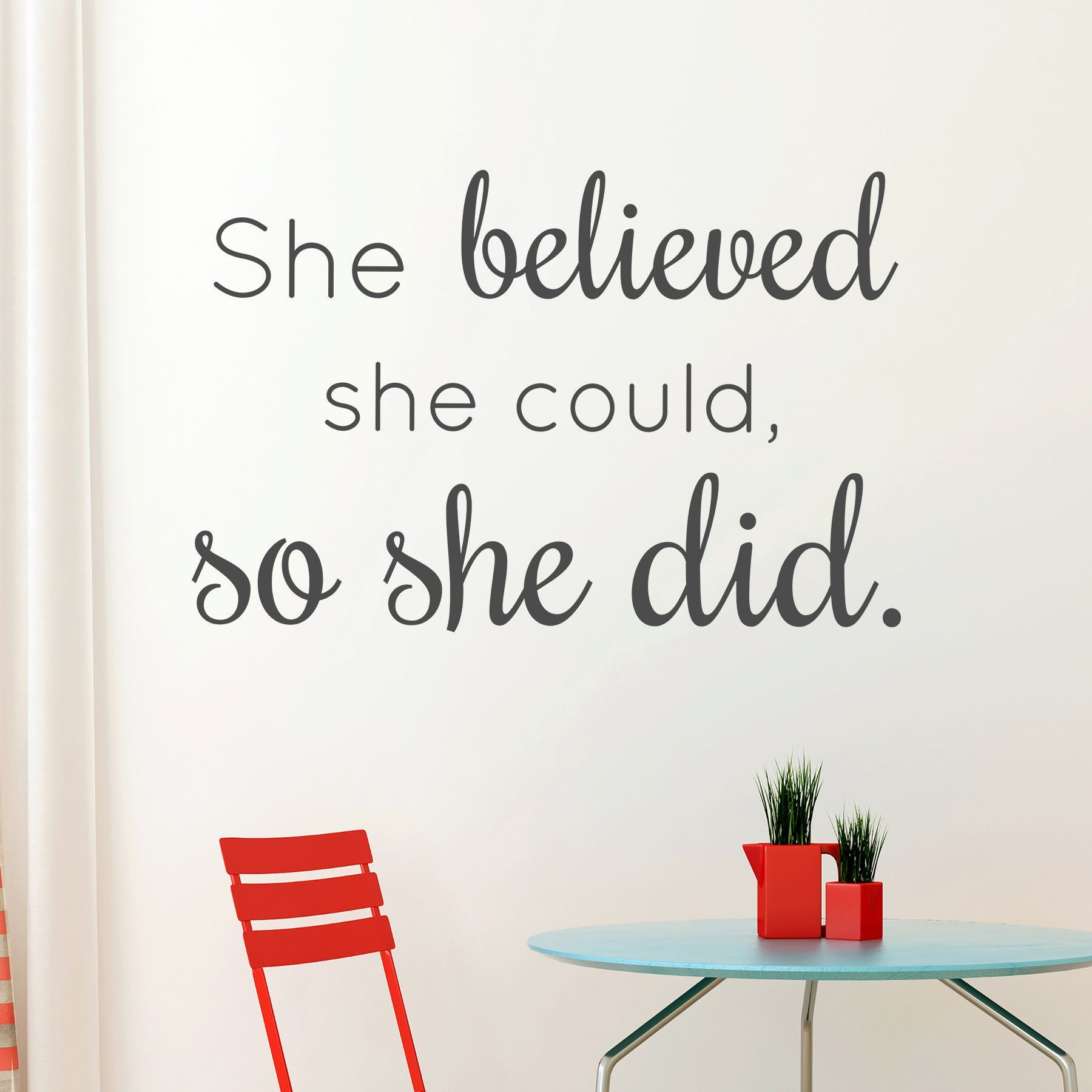 Select Quote She Believed  Motivation