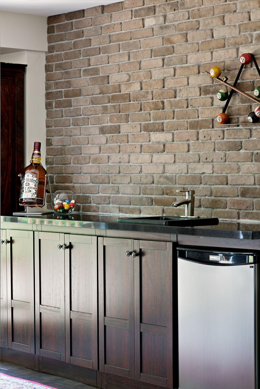 Stone Selex Thin Brick Veneer Indian Brown Brick