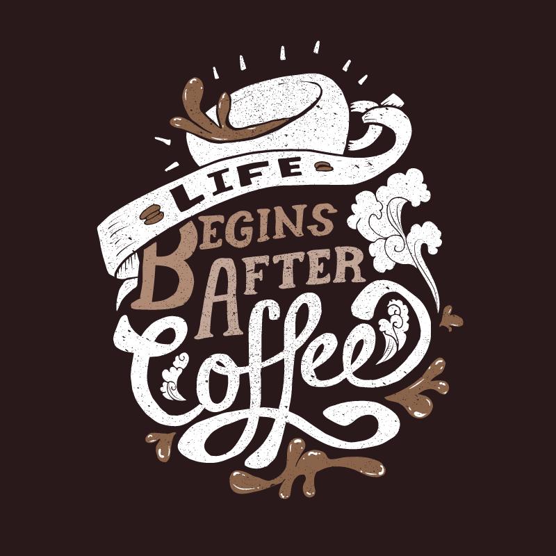 Wearviral   Life Begins After Coffee Tshirt