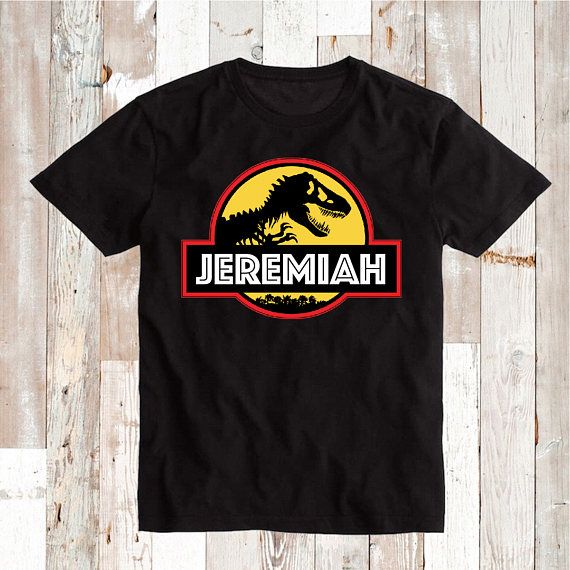 a44201a9 Kids' Clothing, Shoes & Accs Unisex Clothing Jurassic World Birthday Shirt  Personalized Name and Age Custom ...
